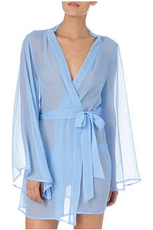 BEAUTIFUL BOTTOMS Denim short silk robe
