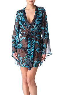 BEAUTIFUL BOTTOMS Short silk robe