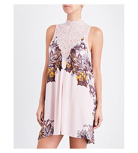 FREE PEOPLE Marsha lace-detail slip dress (Pink