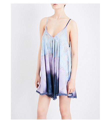 FREE PEOPLE Serena jersey slip dress (Blue+combo