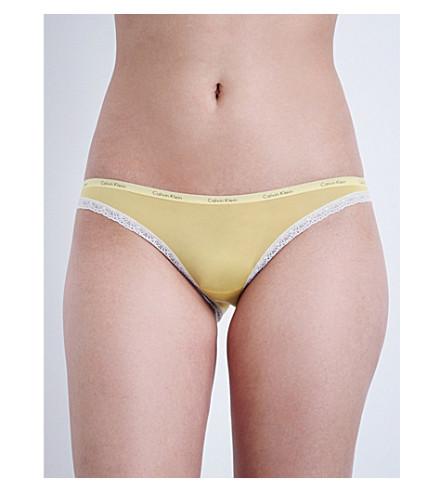CALVIN KLEIN Bottoms Up stretch-jersey bikini briefs (8si+solaris+ceramic+lace