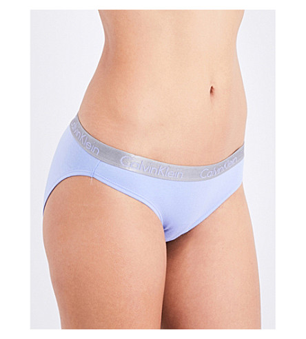 CALVIN KLEIN Radiant stretch-cotton bikini briefs (Ee7+ephermeral