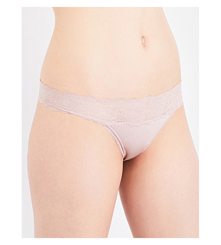 CALVIN KLEIN Seductive Comfort stretch-lace and jersey thong (Pg4+pegmatite