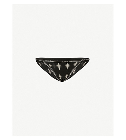 CALVIN KLEIN Logo-print stretch-cotton briefs (Sul+sulfur+dye