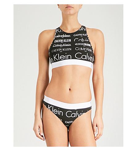 CALVIN KLEIN Heritage stretch-cotton bralette (2hv+black