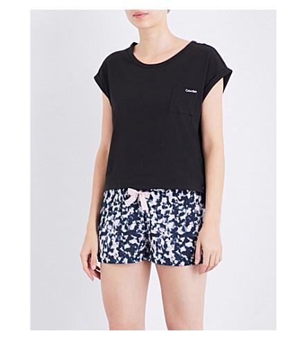 CALVIN KLEIN Printed crepe pyjama shorts (Mes+mesmerizing+print