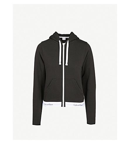 CALVIN KLEIN Modern Cotton zip-up cotton-jersey hoody (001+black