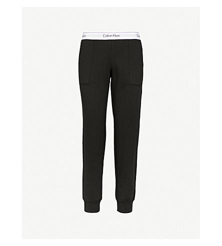 CALVIN KLEIN Modern Cotton cotton-jersey jogging bottoms (001 black