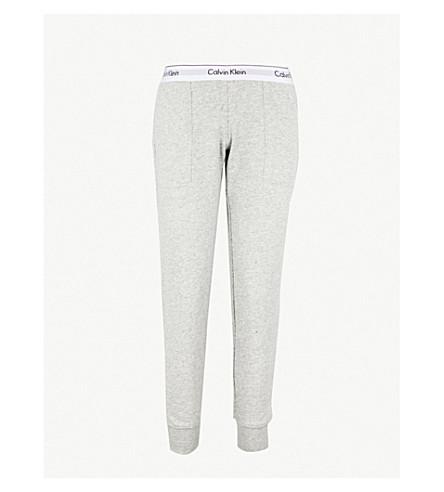 CALVIN KLEIN Modern Cotton cotton-jersey jogging bottoms (020 grey heather