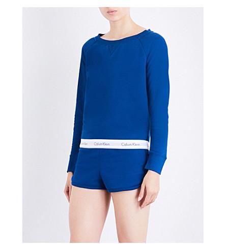 CALVIN KLEIN Modern Cotton cotton-jersey sweatshirt (7oo+orion