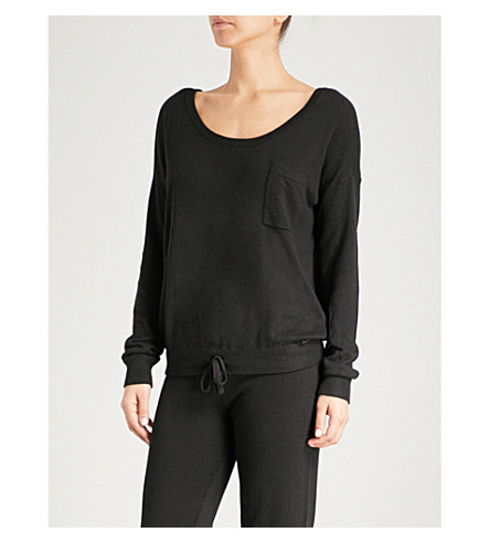 CALVIN KLEIN Scoop neck knitted jumper (001+black