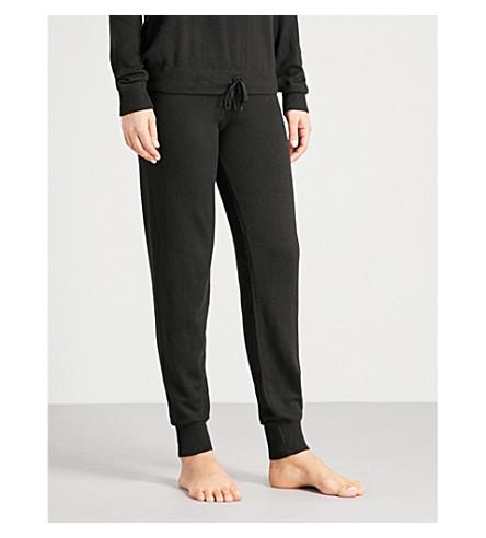 CALVIN KLEIN Brand-plaque knitted jogging bottoms (001+black