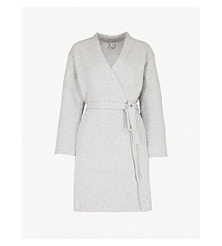 CALVIN KLEIN 带罗纹长袍 (020 + 灰色 + 希瑟