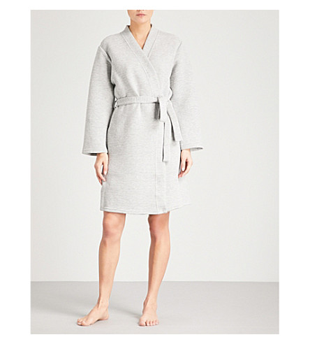 CALVIN KLEIN Ribbed robe (020+grey+heather