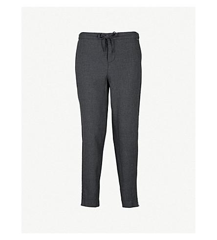 CALVIN KLEIN Branded-trim cotton-blend pyjama trousers (038+charcoal+heather