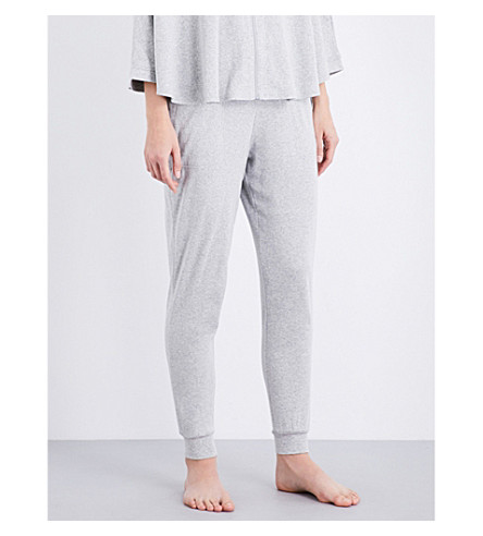 CALVIN KLEIN Relaxed-fit cotton-blend jogging bottoms (020+grey+heather