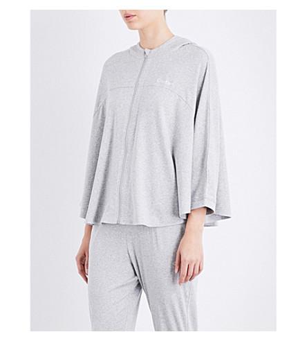 CALVIN KLEIN Batwing-sleeve cotton-blend hoody (020+grey+heather