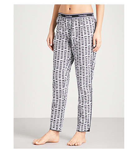 CALVIN KLEIN Printed cotton pyjama bottoms (Vxy+vertical+logo