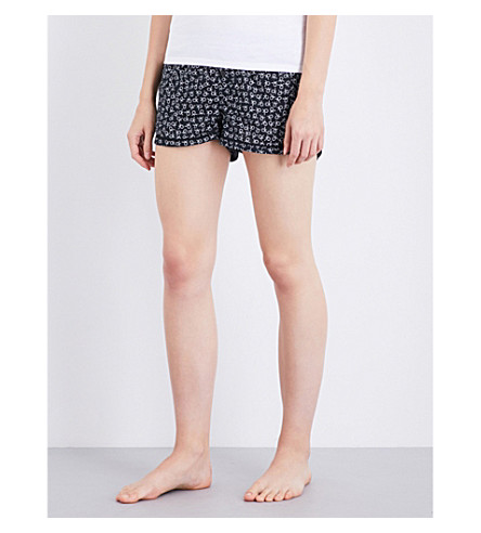 CALVIN KLEIN Printed cotton pyjama shorts (3ok+tossed+logo