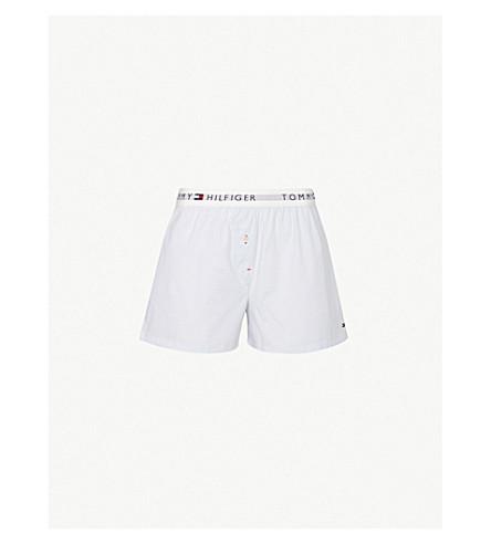 TOMMY HILFIGER 徽标印花棉-府绸短裤 (421 + 花格子布 + 蓝色