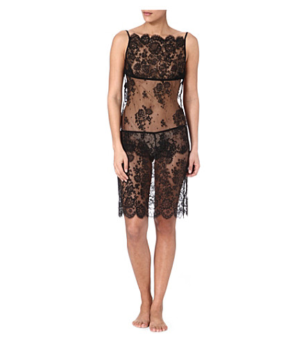 ID SARRIERI Lace midi dress (Black/nude