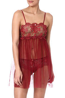 ID SARRIERI Lace and tulle cami