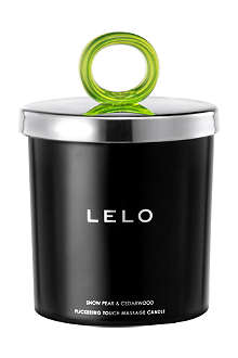 LELO Flickering Touch snow pear and cedarwood massage candle