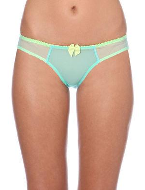 CLAUDETTE Dessous mesh bikini briefs