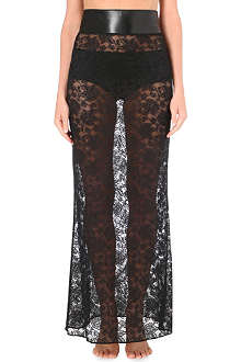 LOVEDAY LONDON Superstition Boudoir lace maxi skirt