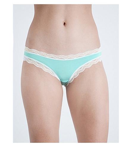 CHEEK FRILLS Salad jersey bikini briefs (Turquoise