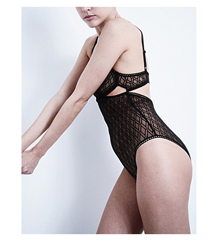 ELSE Baklava mesh bodysuit (Black