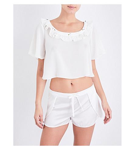 FOR LOVE AND LEMONS SKIVVIES Little Rosette georgette sleep shirt (Ivory