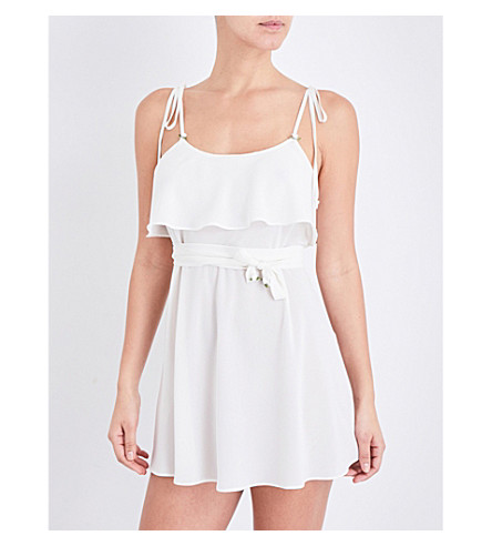 FOR LOVE AND LEMONS SKIVVIES Little Rosette georgette nightgown (Ivory
