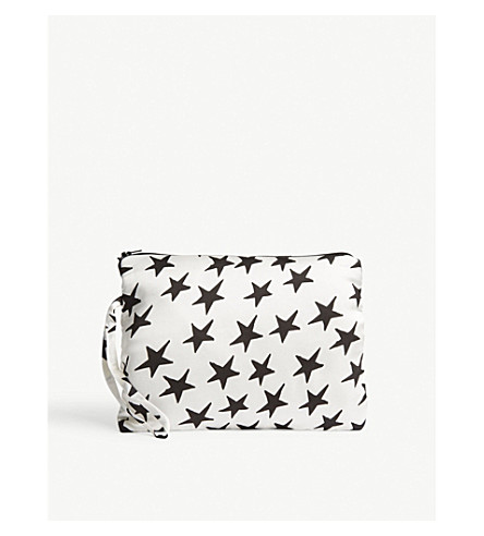 LOVE STORIES Star-print wash bag (Star+white+sand