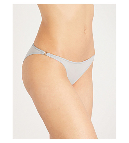 LOVE STORIES Shelby embroidered mesh briefs (Quarry