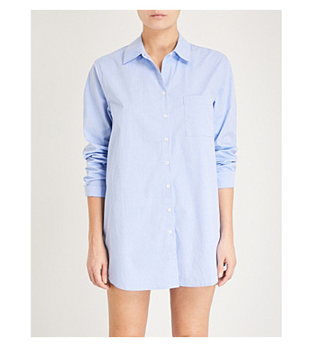 LOVE STORIES Jones cotton pyjama shirt (Blue
