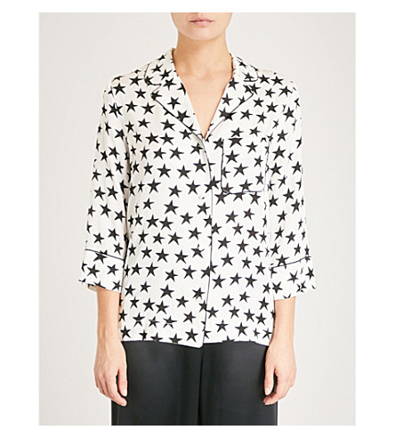 LOVE STORIES Jude cotton pyjama top (Star+white+sand