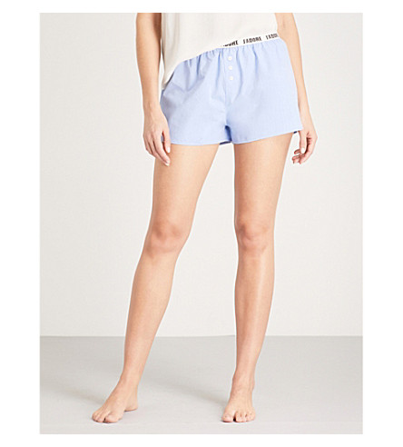 LOVE STORIES Sunday cotton pyjama shorts (Blue
