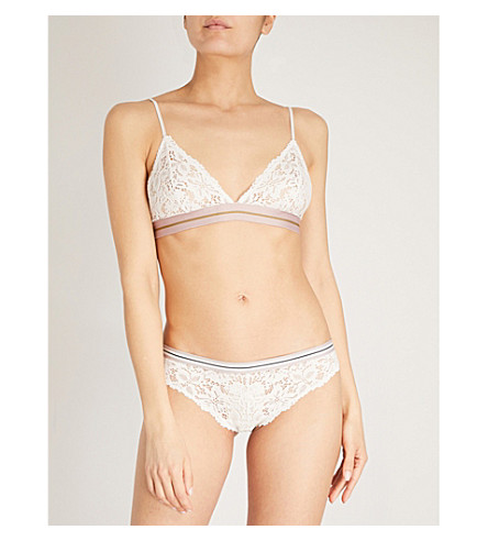 LOVE STORIES Darling lace bra (White+sand