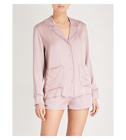 LOVE STORIES Bluemoon satin pyjama top (Deauville+mauve