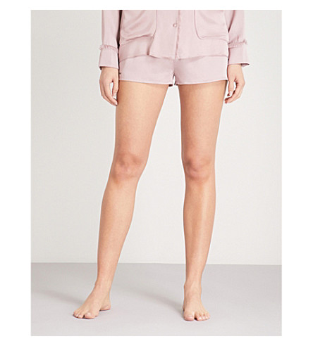LOVE STORIES Edie satin pyjama shorts (Deauville+mauve