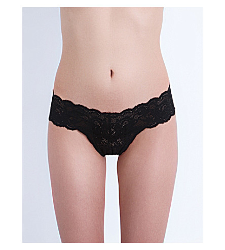 COSABELLA Never Say Never Cutie stretch-lace thong (Black