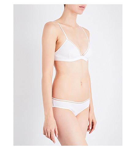 BASERANGE Getz ribbed organic cotton bra (White