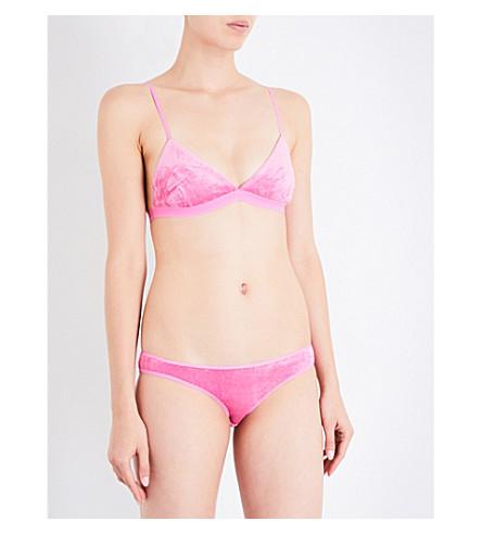 BASERANGE Mississippi velour bra (Baker+pink