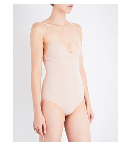 BASERANGE Belmont ribbed stretch-cotton bodysuit (Dune