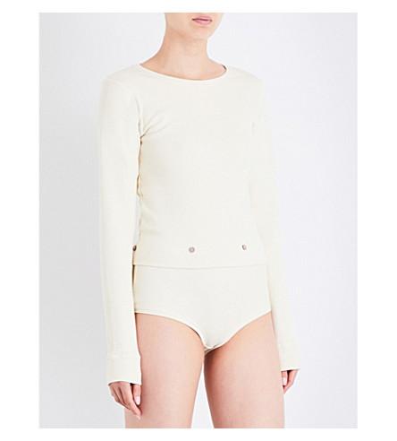 BASERANGE Ladd cotton-jersey body (Off+white