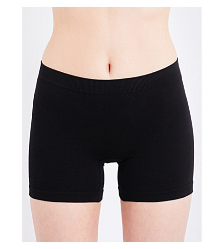 BASERANGE Esther stretch-cotton shorts (Cotton+elasthane+black
