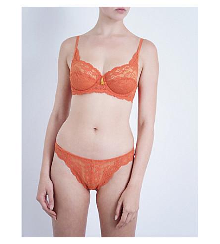 ELLE MACPHERSON BODY Zest floral-lace balconette bra (Ginger