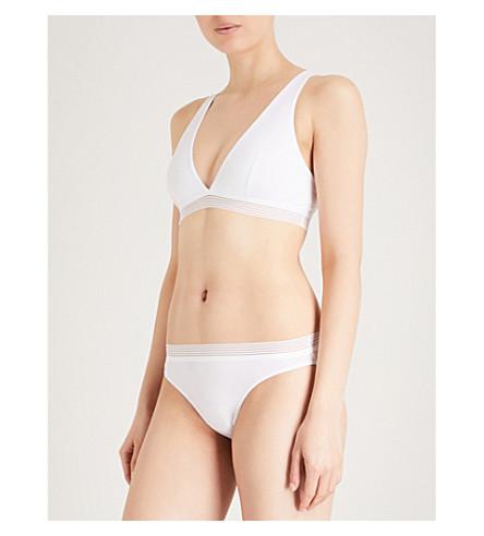 ELLE MACPHERSON BODY Cool stretch-jersey bra (Bright+white