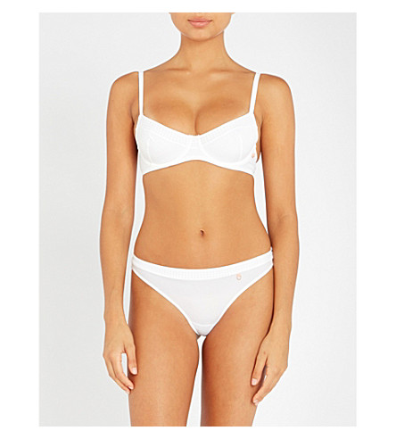 ELLE MACPHERSON BODY The Body perforated stretch-jersey underwired bra (Bright+white